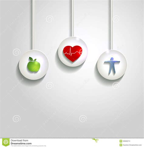 wellness concept background heart health care stock
