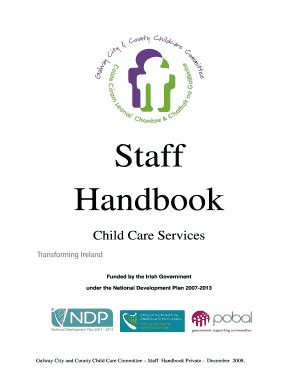 fillable staff handbook the galway city amp 942 | 32146593