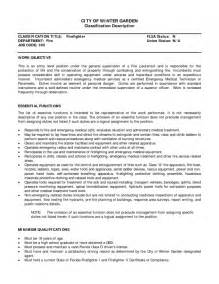 Sample Firefighter Resume Free Templates