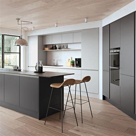 zola matte light grey and graphite kitchens direct ni