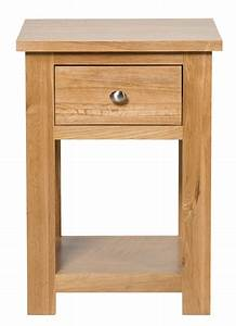 Waverly Oak Lamp Side Table With Drawer Hallowood