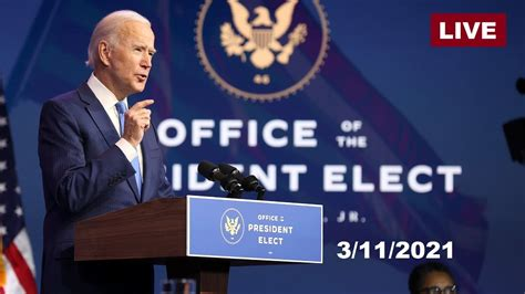 The president office said that the president will address the nation at 8.30pm on wednesday. Live: Watch President Biden Address the Nation Tonight ...