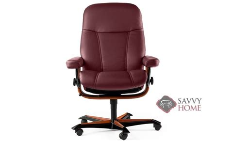 ship consul leather chair in batick burgundy by