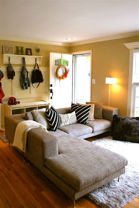 Living Room Entryway Design by Neutral Living Room Design The Suburban Urbanist