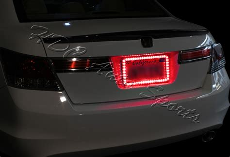 1 X 54 Red Led Light Flash Front Rear License Plate Cover