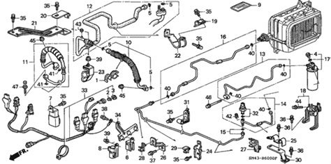 online service manuals 1990 honda accord parking system oem 1990 honda accord sedan a c hoses pipes parts hondapartsonline net