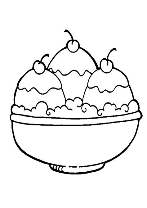 ice cream coloring pages    ice cream