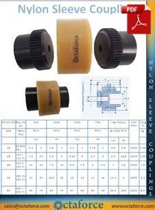 nylon sleeve gear coupling octaforce