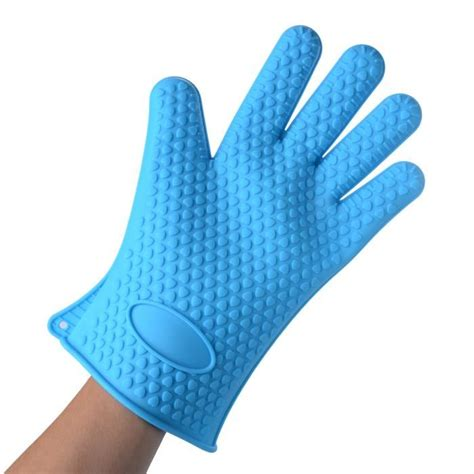 gants anti chaleur cuisine gant de cuisine silicone anti chaleur bleu achat vente