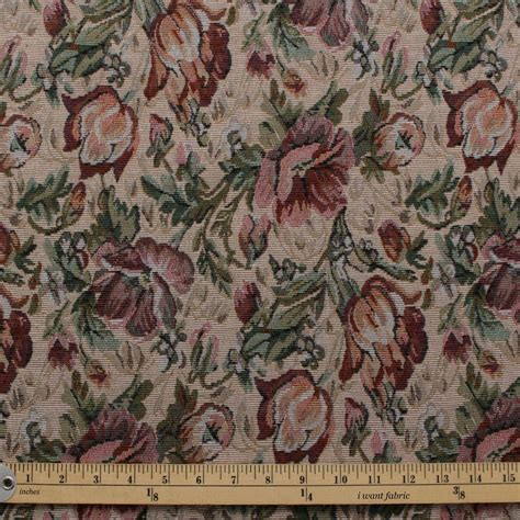 english floral tapestry traditional fabric   fabric