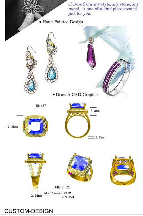 custom gold ring design cad jewelry layout design real solid 14k and 18k jewelry for sale buy