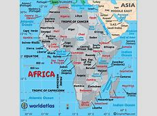 Large Map of Africa, Easy to Read and Printable