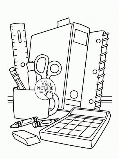 Coloring Supplies Pages Children Printables Sheet Drawing
