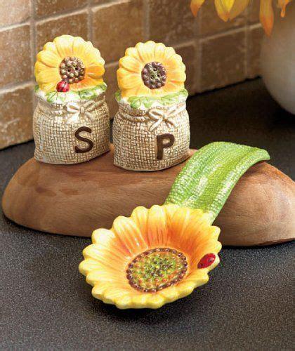 sunflower kitchen accessories tuscan sunflowers bistro countertop sets salt n 2610