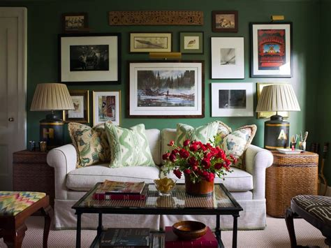 living room ideas green walls seagrass end tables eclectic living room ashley whittaker design