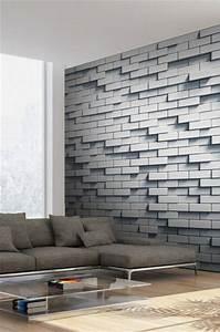 17 best ideas about papier peint effet brique on pinterest With kitchen colors with white cabinets with papier peint effet 3d