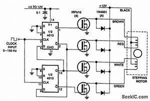 Stepper Motor Driver Circuit Diagram Using Uln2003