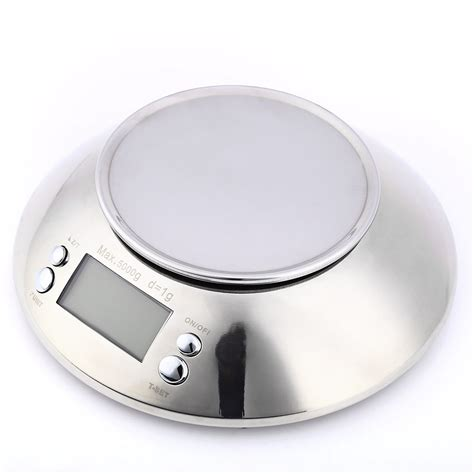 balance cuisine stainless steel electronic weight scale with bowl