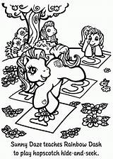 Coloring Hopscotch Dash Sunny Rainbow Horse Sheets Adult Pony Mlparena Disney sketch template