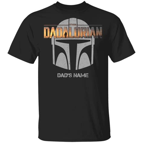 The Dadalorian Mandalorian Dad Custom Name T-shirt Helmet ...
