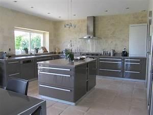 02 la cuisine taupe plan de travail en beton cire With beton cire mur cuisine