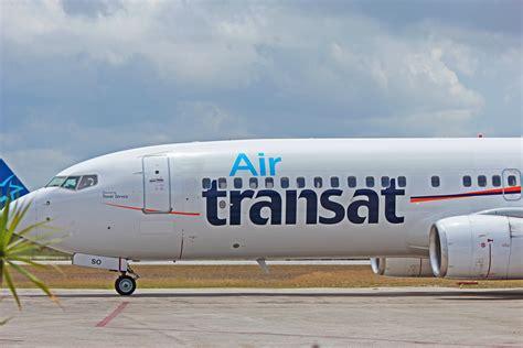air transat inflight ok tso air transat boeing 737 800 at abel santamaria airport snu in santa clara cuba