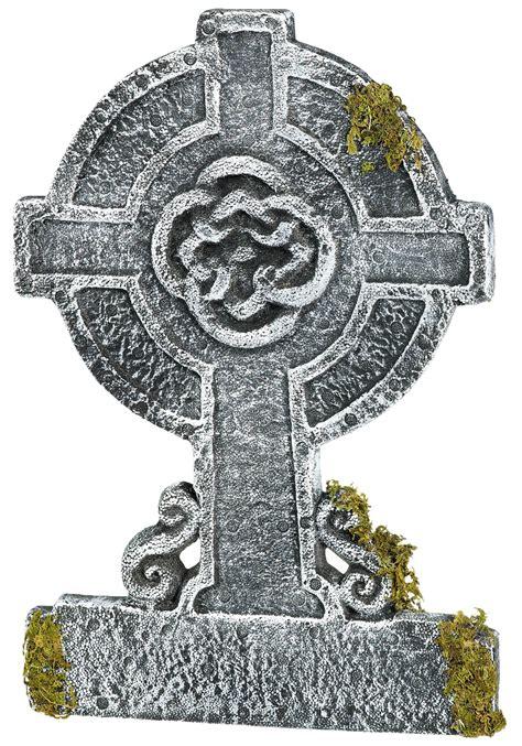 Mossy Celtic Cross Tombstone