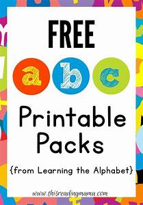free abc printable packs learning the alphabet abc With abc learning letters