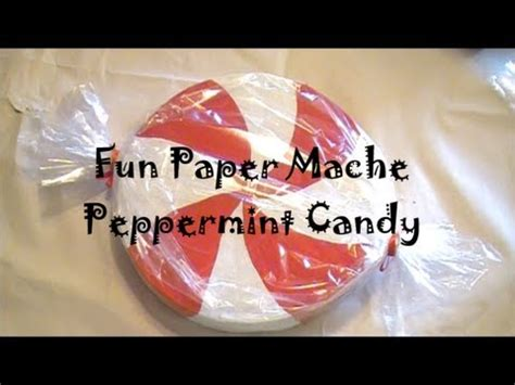 diy giant paper mache peppermint candy youtube