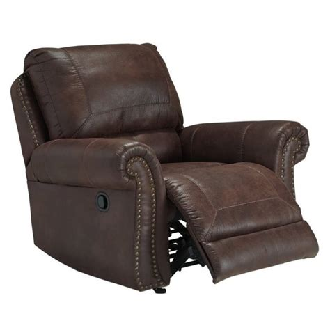 breville faux leather rocker recliner in espresso