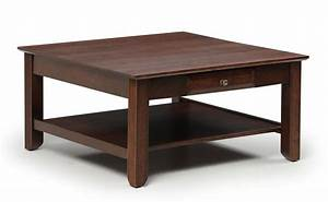 Amish solid wood square coffee table for Amish oak coffee table