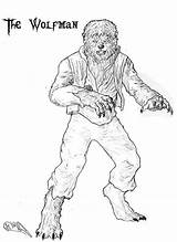 Werewolf Coloring Pages Werewolves Halloween Terrifying Drawings Monsters Classic Wolfman Movie Wolf Monster Print Draw Vampire Wolves Sun Cool Movies sketch template