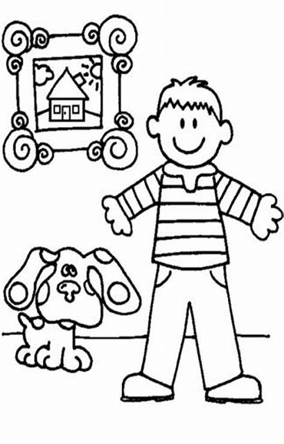 Clues Coloring Blues Pages Nick Jr Mailbox