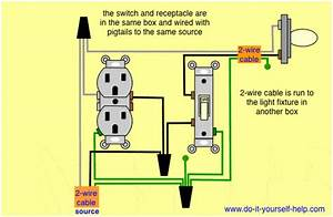 Wiring Diagram For Light Switch And Outlet In Same Box