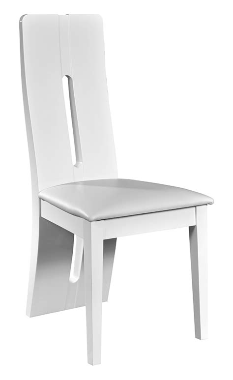 chaises blanches design chaise electra laque blanche