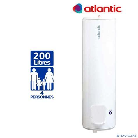 chauffe eau electrique 200l atlantic chauffeo vertical sur socle