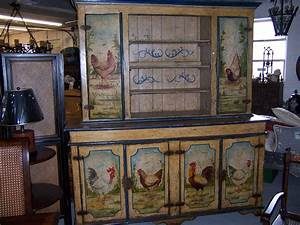 Painted Rooster Hutch Roosters Pinterest Paint