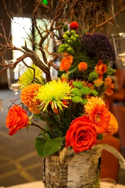 picture  beautiful fall wedding centerpieces