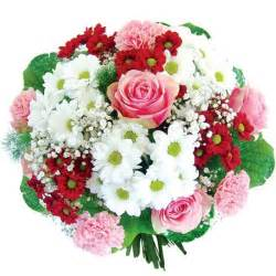 fruit bouqet oxeye daisies and carnations is a magical composition