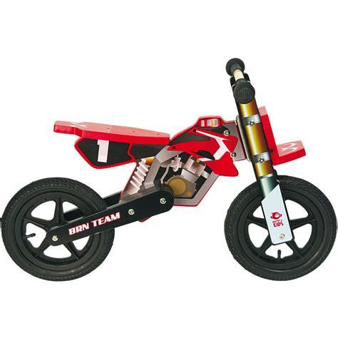 Balance Bike Motocross Wood Boy Red Brn Bernardi Bikes