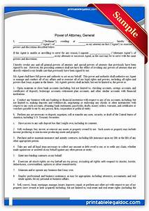 Free printable power of attorney general form generic for Totally free legal documents