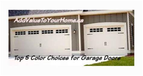 Top 5 Garage Doors by Top 5 Color Choices For Garage Doors Debi Collinson Designs