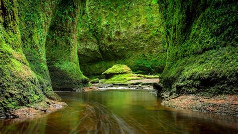 scotland green rocks  river windows  hd wallpapers