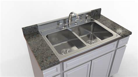 Kitchen Sink Stl Downtown by Kitchen Sink Stl Step Iges 3d Cad Model Grabcad