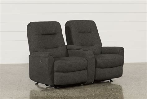 rocker recliner loveseats jaden fabric power rocker reclining loveseat w console