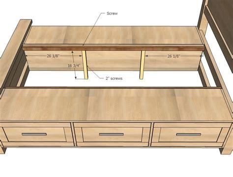 farmhouse storage bed  drawers queen planos de