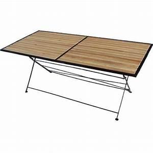 Table Pliante Metal : table pliante bois et m tal achat vente table de ~ Teatrodelosmanantiales.com Idées de Décoration