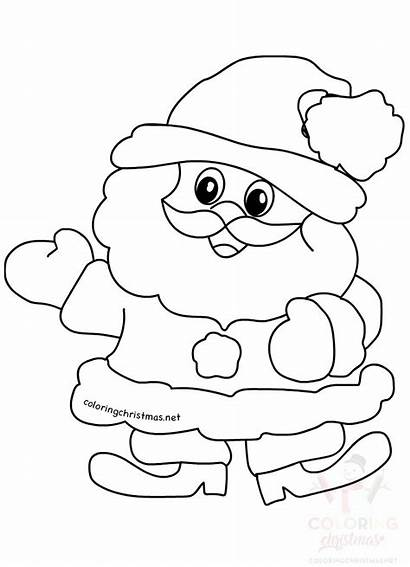 Santa Claus Printable Coloring Christmas Related
