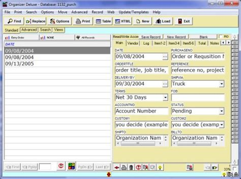 purchase order manager  template