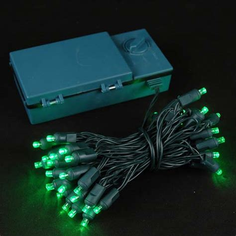 christmas lights that run on batteries 50 led battery operated christmas lights green on green